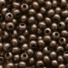 8/0 Metal Seed Beads Dark Copper - 20 grams